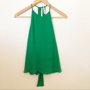 Zara Emerald Green Cami Sleeveless Tank Tie Back
